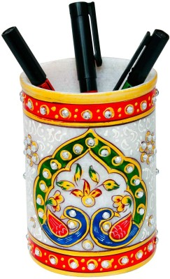 Jaipur Raga 1 Compartments Marble Pen Stand