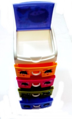 Palakz 5 Compartments Plastic Colourful Drawers