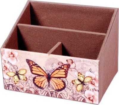 Treasure Hunt Butterfly 3 Compartments Wooden Stationary Holder