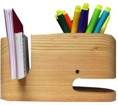 Engrave Moby 3 Compartments Wooden Desk Organiser