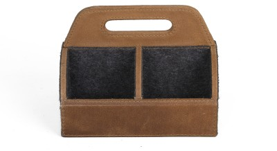 Threesixtydegree desk accessories 4 Compartments Leather remoteholder