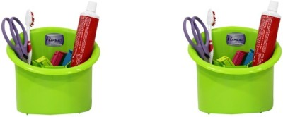 Hanbao 4 Compartments Plastic Multipurpose Stationary Stand