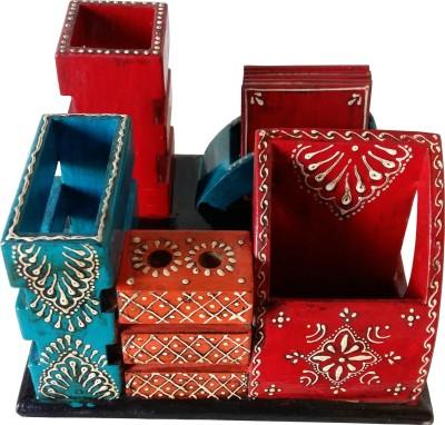 Tilak Art Exporters 1 Compartments Wood Pen Stand