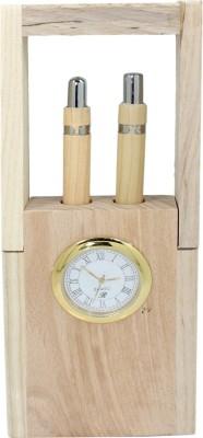 Frabjous 2 Compartments Wood Pen Stand