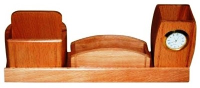 Onlineshoppee Cac 2 Compartments Wooden Pen Holder