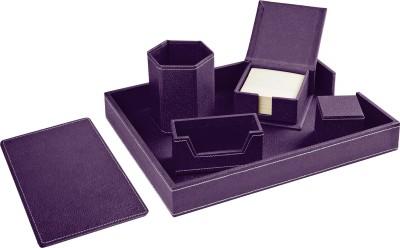 Ecoleatherette Regular 6 Compartments Leatherette Desktop Office Set