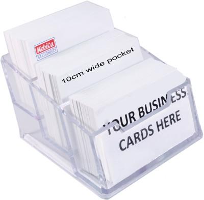 Kebica 3 Compartments Plastic Countertop Card Holder