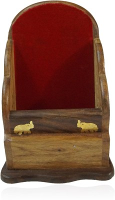 R S Jewels Holder 1 Compartments Wooden Mobile Stand