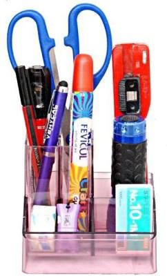 Homeshopeez DG-8060 6 Compartments Plastic Desk Organizer Pen Stand