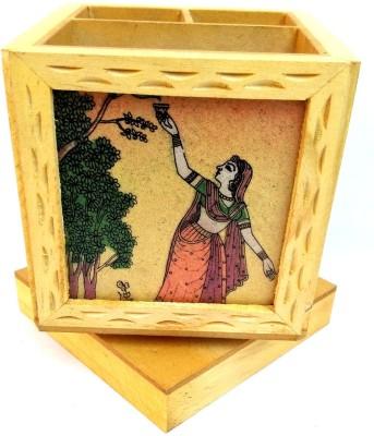 Shri Banke Handicraft 3 Compartments Wooden office equipment