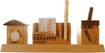 Tiedribbons Tabletop-130 1 Compartments Wooden Desk Sets