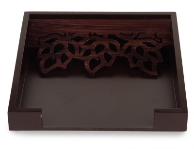 Cocktail Holder 1 Compartments Wooden Napkins Tray