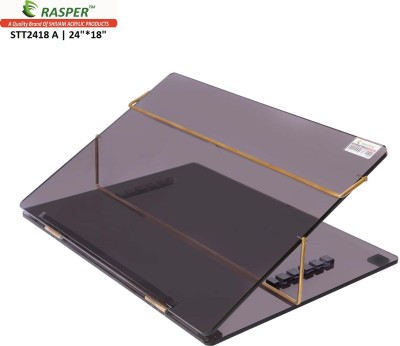 Rasper 2 Compartments Acrylic Table Top Elevator (BIG SIZE 24x18 Inches) Premium Quality With 1 Year Warranty