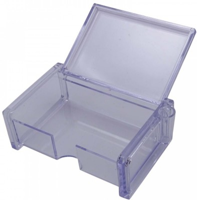 Kebica 2 Compartments Plastic Business Card Box with Pen Holder