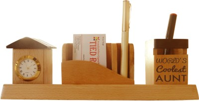 Tiedribbons Tabletop-102 1 Compartments Wooden Desk Sets