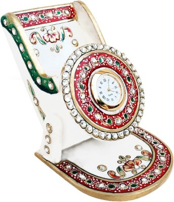 Handicrafts Paradise Hpmr 1 Compartments Marble Mobileholder With Clock
