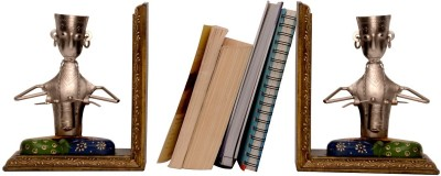 Cocovey Bookend 2 Compartments Wooden Book End
