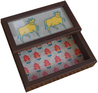 Craftghar 1 Compartments Wood Tissue Holder