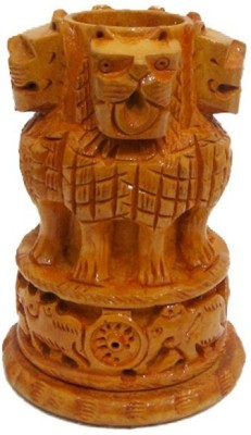 JaipurCrafts Ashoka 1 Compartments Wooden Pen Stand