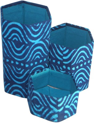R S Jewels Cases 3 Compartments Paper Pen Holder