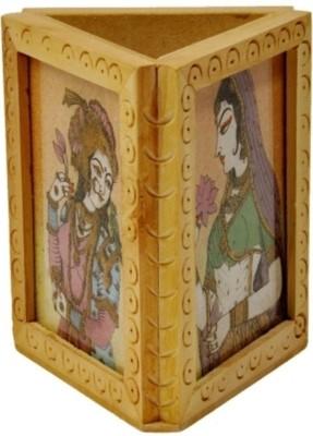 Bajya Beautiful Gemstone Painting 1 Compartments Wooden Burst Proof