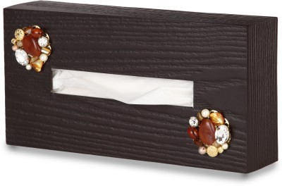Cocktail Classy 1 Compartments Wood Tissue Holder