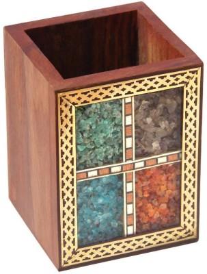Handicrafts Paradise PSSW 1 Compartments Wooden Penholder