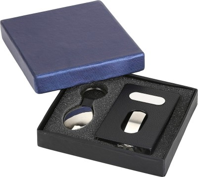 Samprada 1 Compartments Steel, Plastic Visiting Card Holder