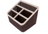 CSM 5 Compartments Plastic Desk Organize...