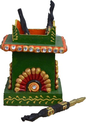 eCraftIndia Embossed 1 Compartments Papier-Mache Pen Stand