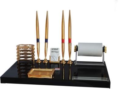 Kebica Executive 6 Compartments Plastic Pen Stand