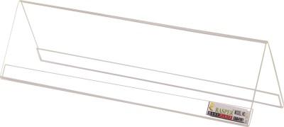 Rasper 2 Compartments Acrylic Desk Label Name Plate (Pack Of 10 Pcs)