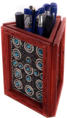 eCraftIndia ESR009-Stationary 1 Compartments Wooden Pen Stand