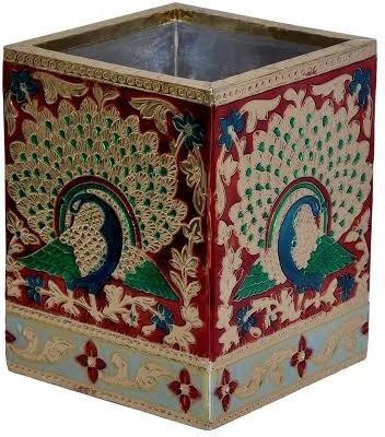 Ooltha Chashma Designer holder 1 Compartments Wooden Pen holder