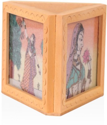 Rajwada Arts Rajasthani 1 Compartments Wooden Office Stationary Holder