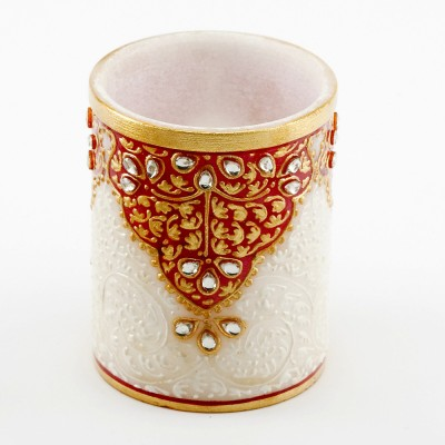 Aapno Rajasthan MAR0956 1 Compartments Marble Pen Stand
