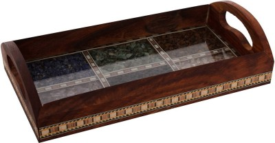eCraftIndia ESR009-Stationary 1 Compartments Wooden Utility Tray