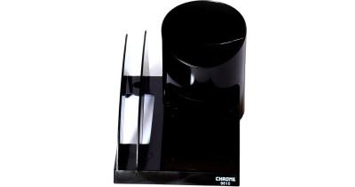 Chrome Multipurpose 5 Compartments Plastic Pen Stand