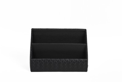 Threesixtydegree desk accessories 2 Compartments Leather Letter Holder