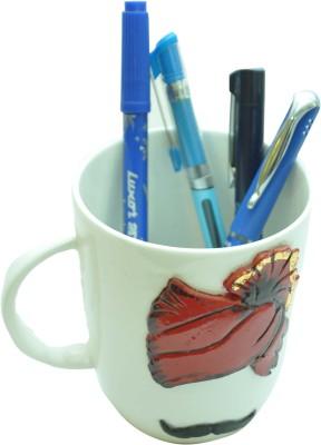 MohanJodero 1 Compartments Ceramic Pagdi & Moustache Pen Holder