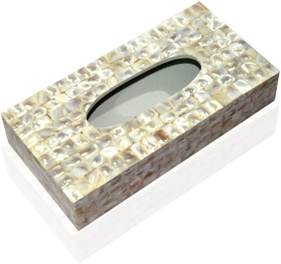 Opulent Homes 1 Compartments Wood Tissue box