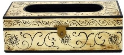 Artlivo Embossed 1 Compartments Wood Tissue Paper Holder