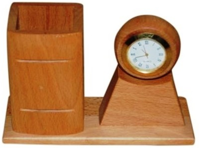 Onlineshoppee Aca 1 Compartments Wooden Pen Holder