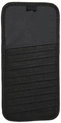 AutoSun Black 12 Compartments Cloth CD Holder