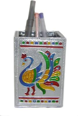 Rastogi Handicrafts 1 Compartments Aluminium Pen Holder