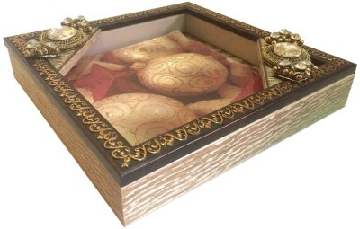 Aradhana Arts Tukins 1 Compartments Fibre with Acrylic Utility Decoratives