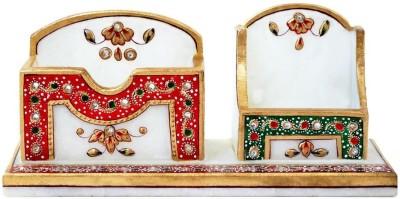 Handicrafts Paradise 2 Compartments Marble Pen Holder