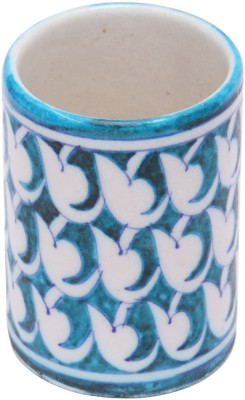 Shilpbazaar 1 Compartments Blue Pottery Pen Stand