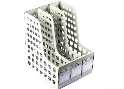 Chrome Mag Rack 1631 3 Compartments Plastic Document Holder