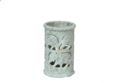 D,Kraft ,N, Kulture Fine Carving-Elephant 1 Compartments Stone Pen Stand